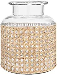 "Bloomingville 8"" H Glass Decorative Cane Sleeve Vase,"