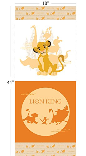 (Disney The Lion King Fabric Panel in Orange by The Panel)