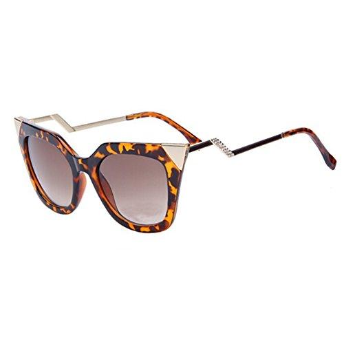 Women Cat Eye Bending Temple Sunglasses Women Sun Glasses Rhinestone Decoration - Bandz Ray
