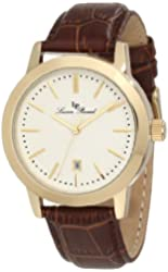 Lucien Piccard Men's 11572-YG-02S Tosa Silver Textured Dial Watch
