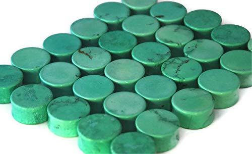 Intrepid Jewelry Mint Green Stone Plugs Double Flared Plugs