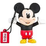 Tribe Disney Mickey Mouse (Topolino) Chiavetta USB da 16 GB Pendrive Memoria USB Flash Drive 2.0 Memory Stick, Idee Regalo Originali, Figurine 3D, Archiviazione Dati USB Gadget in PVC con Portachiavi - Multicolore