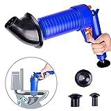 FWX High Pressure air Power Drain Blaster Toilet Plunger Gun Manual Sink Plunger Opener Cleaner Pump for Bath Toilets, Bathroom, Kitchen Clogged Pipe Dredge Tools