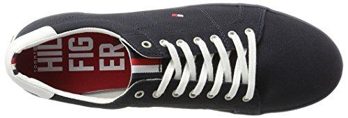 Hombre H2285arlow Hilfiger Zapatillas para Midnight 1d Azul Tommy FXqg66