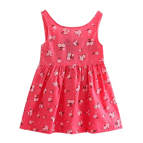 UMFun Toddler Girls Summer Princess Dress Kids Baby Party Wedding Sleeveless Dresses -