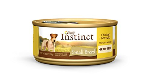 Instinct Small Breed Grain Free Chicken Formula Natural Wet Canned Dog Food by Nature's Variety, 5.5 oz. Cans (Case of 12) - Low Protein Can Dog Food