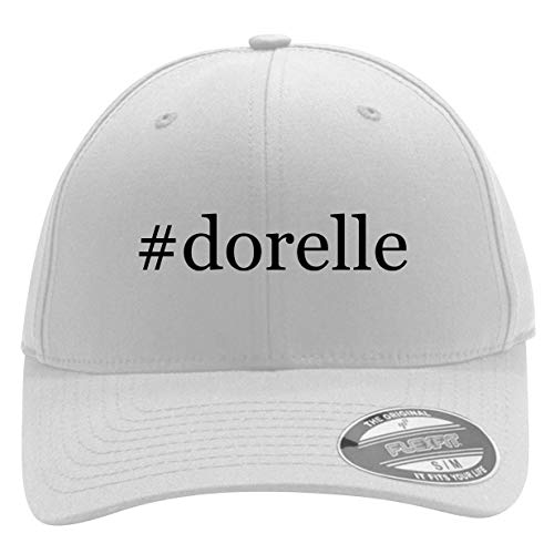 #Dorelle - Men's Hashtag Flexfit Baseball Cap Hat, White, Small/Medium
