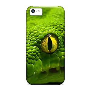 Tpu Case Cover Compatible For Iphone 5c/ Hot Case/ Green Emerald Boa Snake