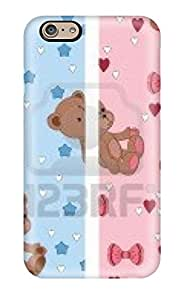 morgan oathout's Shop Hot Fashion Design Case Cover For Iphone 6 Protective Case (artistic Seamless Cute With Teddy Bear) 7719121K20811311