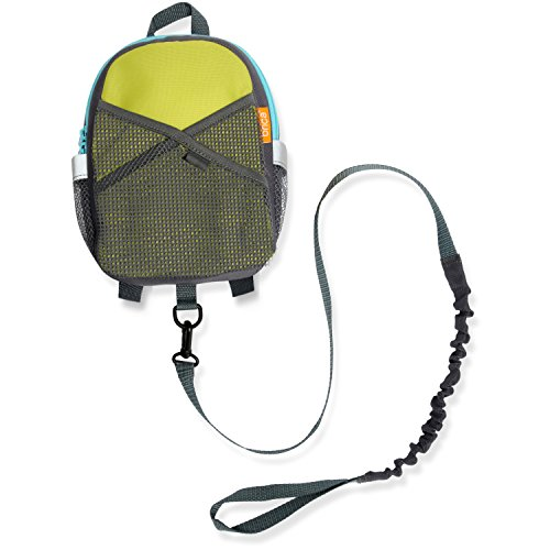 - BricaBy-My-Side Safety Harness Backpack, Green/Blue