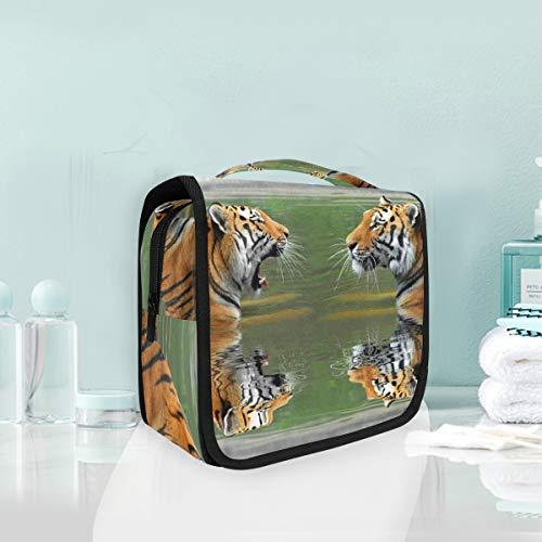 Makeup Cosmetic Bag 2 Tiger Love Portable Storage