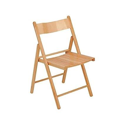 Silla plegable, silla de madera, silla cocina, terraza jardín ...