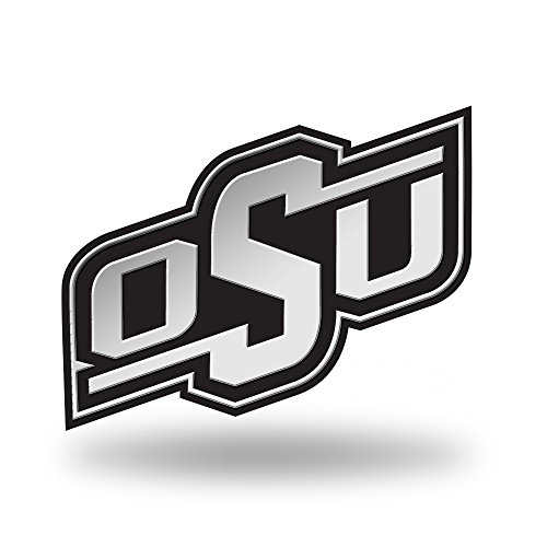 Rico Industries NCAA Oklahoma State Cowboys Chrome Finished Auto Emblem 3D Sticker ()