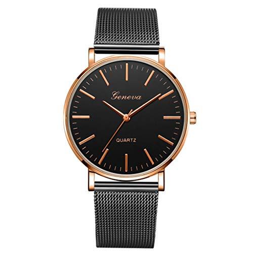 (LUCAMORE Mens Quartz Watch,Luxury Temperament Minimalist Business Analog Wrist Watches Mesh Stainless Steel Strap)