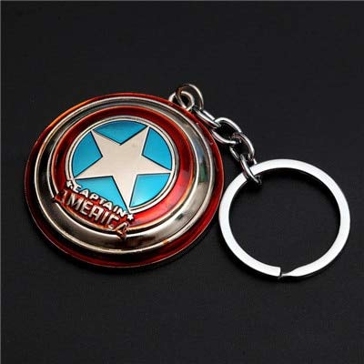 - Pitaya. Metal Shield Keychain Spider Man Man Mask Keychain Toys Action Figure Cosplay -Collectable Movies Comics Gamerverse Superheroes