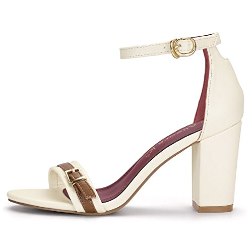 Women K Ivory Ankle US M Allegra 8 Chunky Heel Strap Sandals nYwAdxOdp