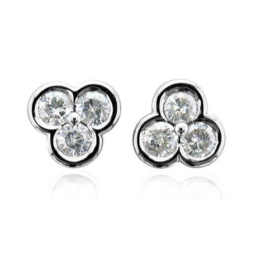 Certified White Stone Diamond Earrings