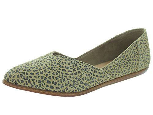 Cheetah Printed (TOMS Women's Jutti Flat Cheetah Suede Printed Flat 6 B (M))