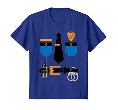 Kids Kids Halloween Police Uniform Costume T-Shirt 6 Royal (Police Uniforms For Halloween)