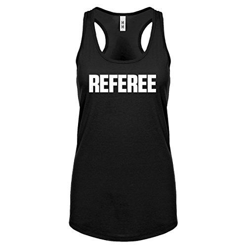 Indica Plateau Racerback Referee Small Black Womens Tank Top