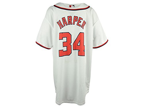 Bryce Harper Washington Nationals White MLB Youth Cool Base Home Replica Jersey (Game Official Mlb Baseball Jersey)