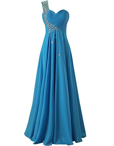 Party Formal Bridesmaid Prom Beaded Long Women's Dress Blue HSD292 Gown House Belle qf0411