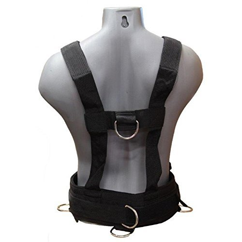 CFF Heavy Duty Speed and Sled Training Harness - Black/Red