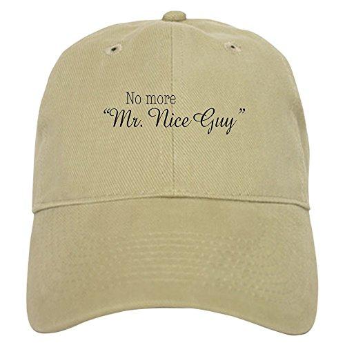 CafePress No More Mr. Nice Guy Baseball Cap with Adjustable Closure, Unique Printed Baseball Hat Khaki