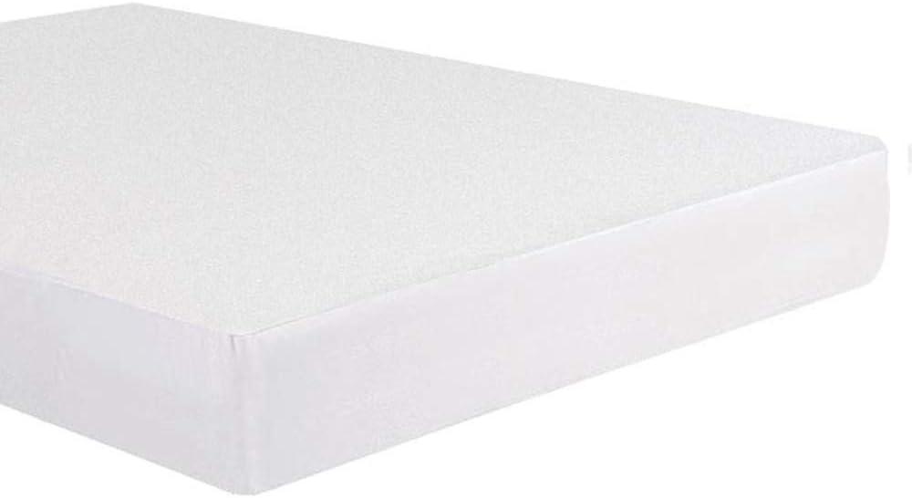 Bedecor Algod/ón Protector de colch/ón 90x190//200cm,Impermeable y Transpirable Hipoalerg/énico