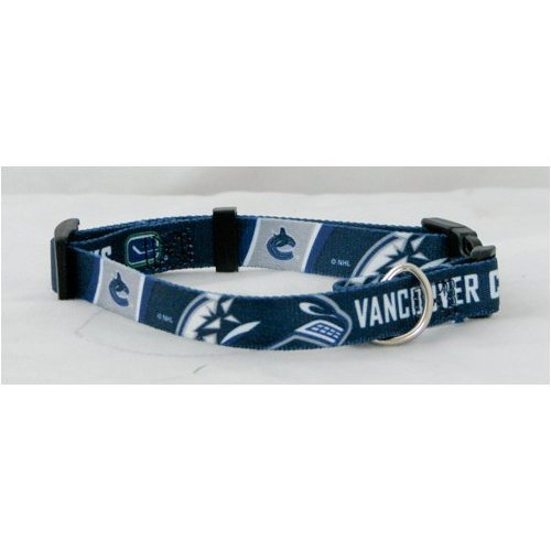 Hunter Mfg. LLP NHL Vancouver Canucks Adjustable Pet Collar, Team Color, X-Large