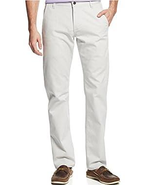 Slim Fit Alpha Khaki Flat Front Pants