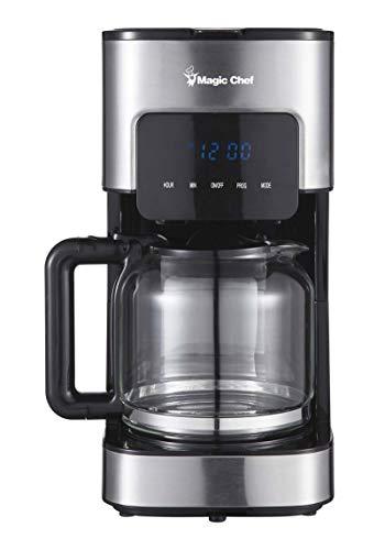 Magic Chef MCSCM12SS Coffee Maker, 8.6X 6.6X 12.9, Stainless Steel (Magic Chef Coffee)