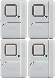 Ge Personal Security Window Door Alarm 4 Pack Diy Home Protection Burglar Alert Wireless Alarm Off Chime Alarm Easy Installation Ideal For Home Garage Apartment Dorm Rv And Office 45174