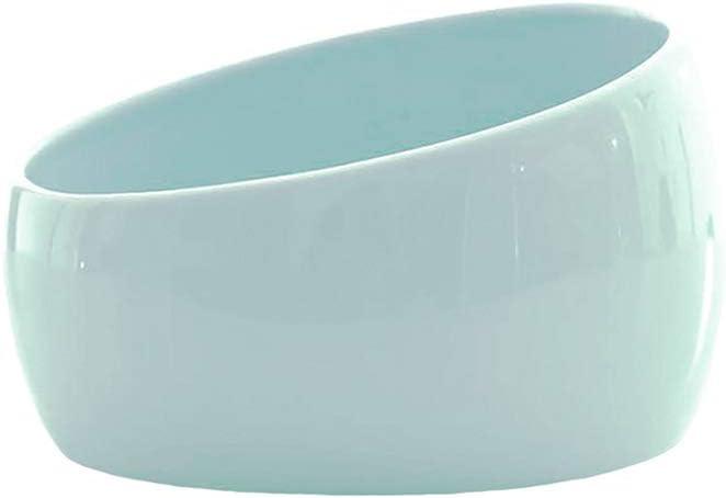 ALBOLET Slanted Ceramic Cat Dog Bowl, Tilted Angle Cat &Dog Food and Water Bowl, Slanted Cat Dish, Hold-4 Cups/ 35 Oz