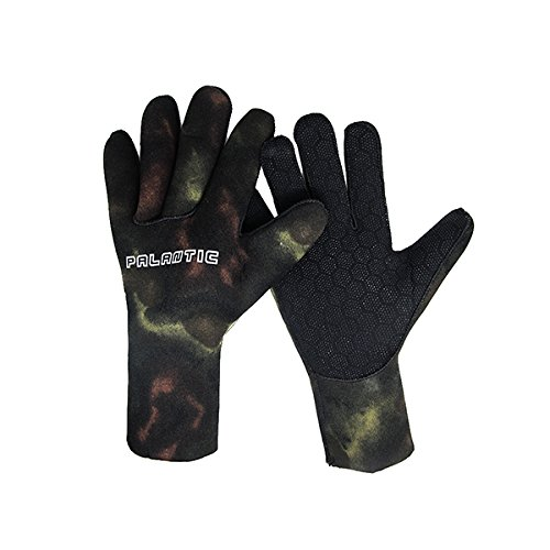 Palantic Spearfishing Camouflage 3mm Neoprene Gloves, Medium