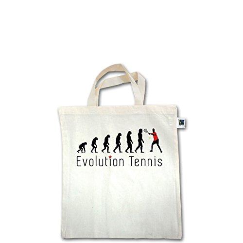 Evolution - Tennis Evolution - Unisize - Natural - XT500 - Fairtrade Henkeltasche / Jutebeutel mit kurzen Henkeln aus Bio-Baumwolle