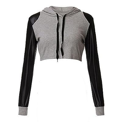 Dixperfect Crop Top Sweatshirt Long Sleeve Lightweight for Women