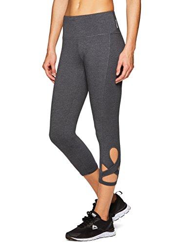 - RBX Active Women's Yoga Pilates Cotton Capri Leggings Pilates Grey XL