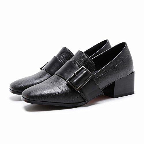Mee Shoes Damen chunky heels slip on Pumps Schwarz