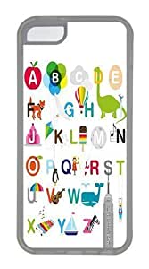 26 Letters Of The Alphabet Custom Apple iPhone 5C Case TPU Case Cover Compatible with iPhone 5C Transparent