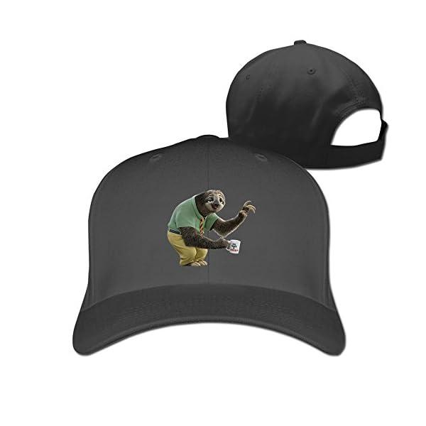 Luxir Unisex Zootopia Flash The Sloth Baseball Caps Black -