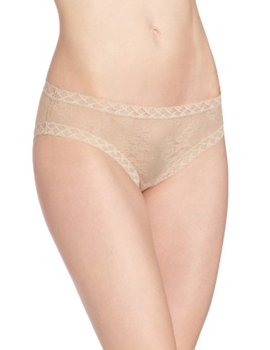 Natori Women's Bliss Lace Girl Brief Panty, Café, Medium