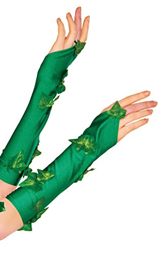 Rubie's Women's DC Comics Poison Ivy Glovelette, Green, One (Poison Ivy Dc Comics Costume)