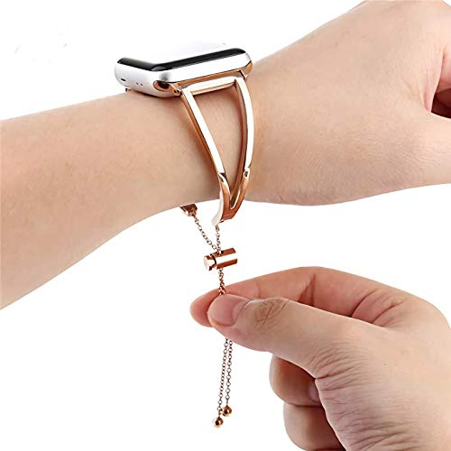 2170e99f47cb2 WONMILLE Bracelet for Apple Watch Band 42mm, Classy Stainless Steel Jewelry  Bangle for iWatch Bands Strap Wristbands Unique Fancy Style for Women ...