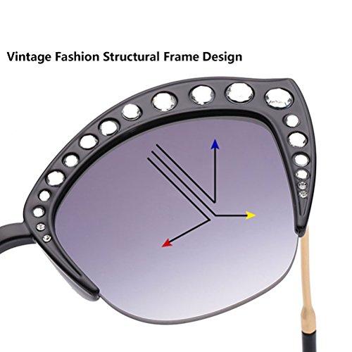 uv amp;pink Case Designer Cat's Frame Protective Anti Eyeglass Classic Sunglasses Lunettes With De Womens Zhhlaixing Soleil Uv400 Femme Ladies Blue g0HfT