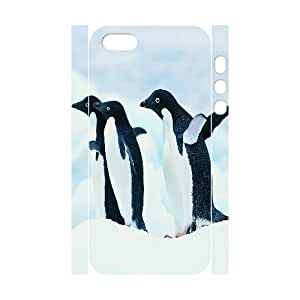 Penguin Customized 3D Case for Iphone 5,5S, 3D New Printed Penguin Case