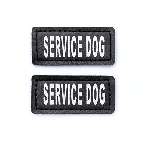 Industrial Puppy Service Dog Patch with Hook Back and Reflective Lettering | Set of Two Service Dog Tag for Service Dog Vest Service Dog Harness Patches for Working Dogs