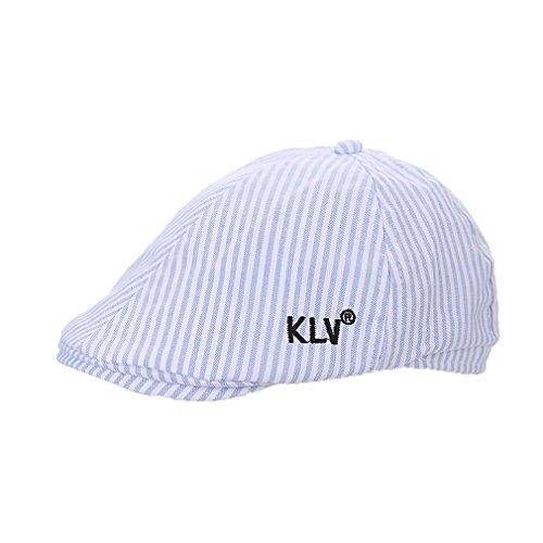 Enfant Garçon Motif Hat Casquette Chapeau Fille Mode Réglable Coton Bonnet Outdoor Acvip Rayure Bleu Béret Plate xTdUFwaqx5