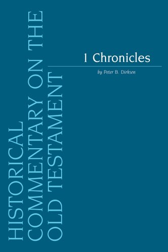 1 Chronicles (Historical Commentary on the Old Testament) (v. 1) by Brand: Peeters Publishers