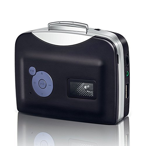 Cassette to MP3 Converter - USB and Battery Powered Portable MP3 Converter - Includes Headphones